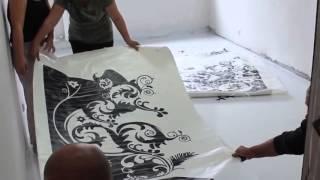 Как делают наливные полы с рисунком