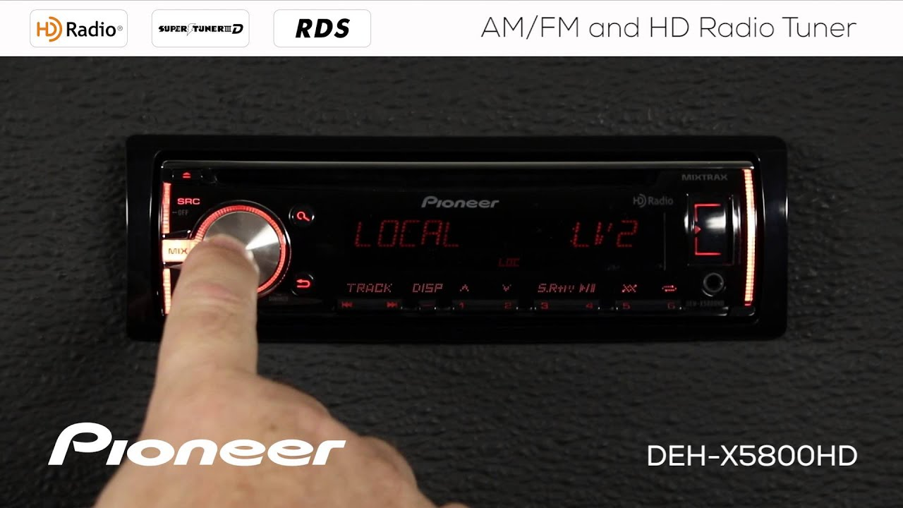 How To - DEH-X5800HD - AM FM and HD Radio Tuner | Pioneer
