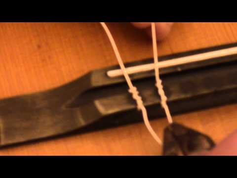 classical guitar how to change nylon strings tie knots etc youtube. Black Bedroom Furniture Sets. Home Design Ideas