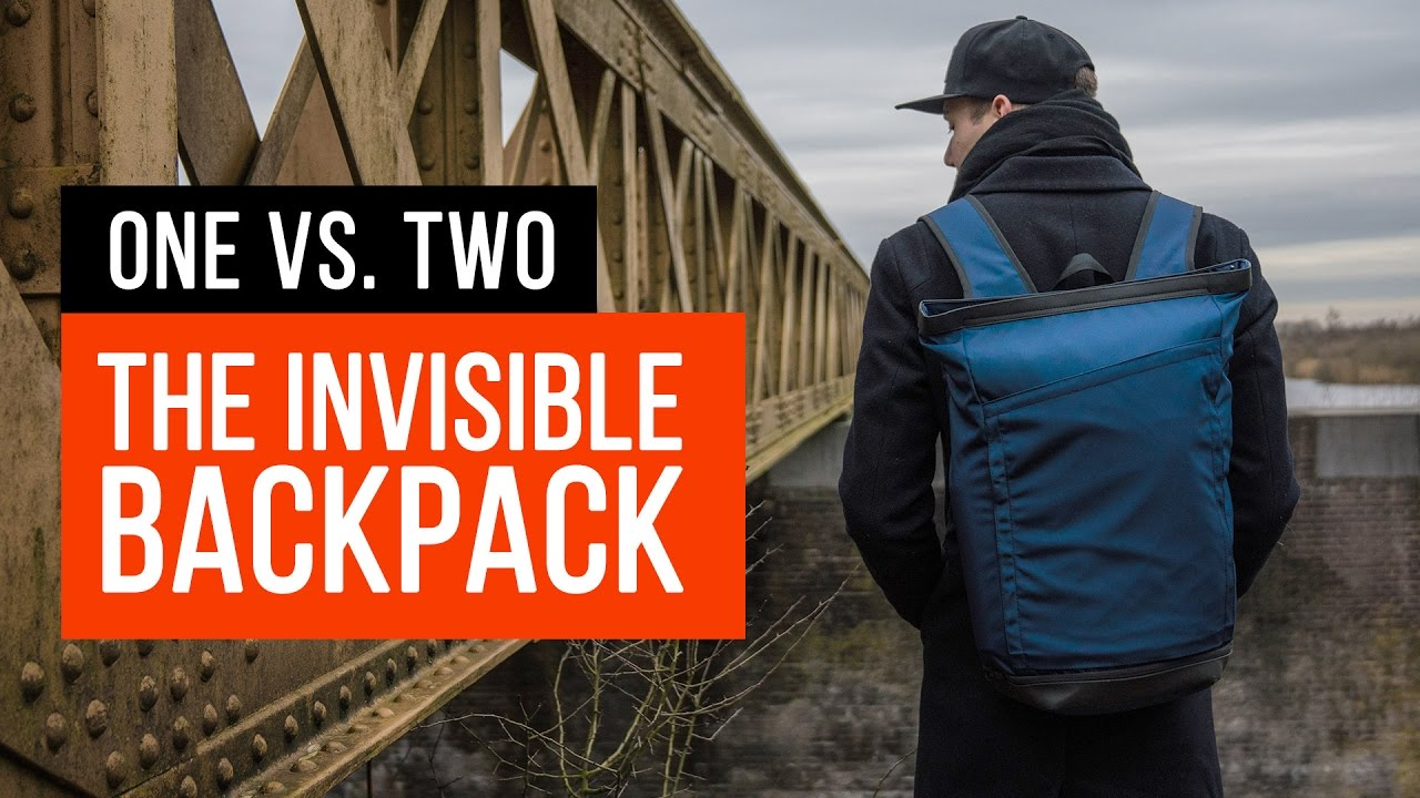 INVISIBLE Backpack ONE (Blue) v. TWO - Best Backpack Ever  - YouTube 339afc3a21b2d