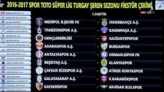 2016-2017 Spor Toto Süper Lig Turgay Şeren Sezonu fikstür Süper Lig Puan Durumu Süper Lig Puan Lig Lig fikstürü Maç Sonuçları, Canli Skor Mersin İdman