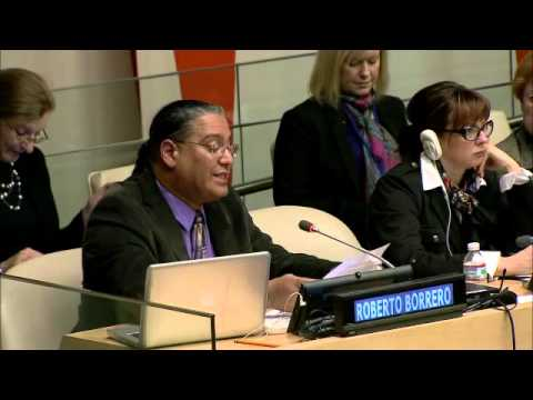Mr. Roberto Borrero - International Indian Treaty Council speaks at UN