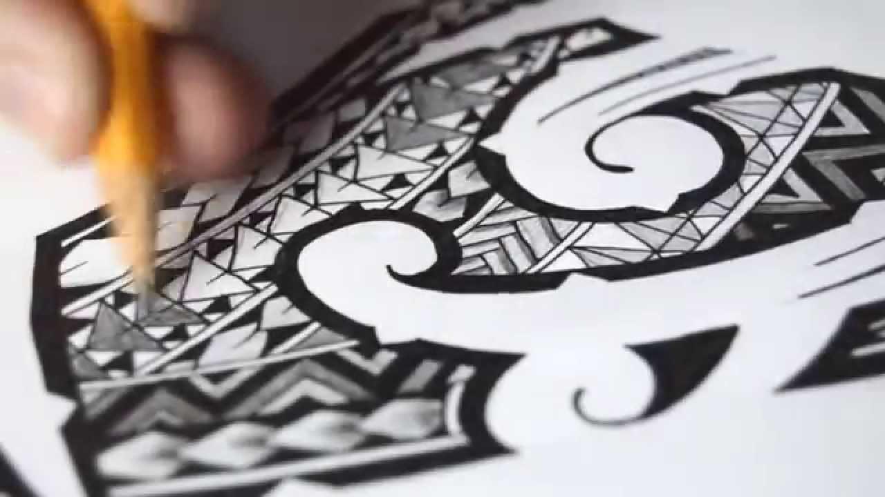 5d9b4bbf5 Polynesian Tribal Tattoo | Speed Drawing - YouTube