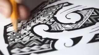 Polynesian Tribal Tattoo | Speed Drawing