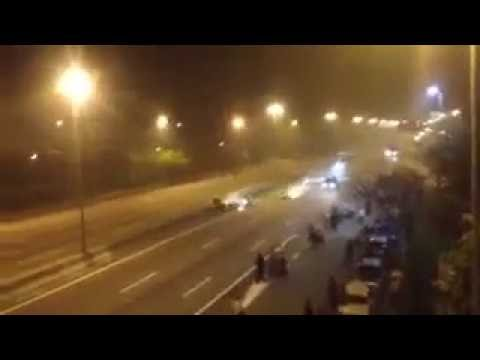 Bike Accident captured live