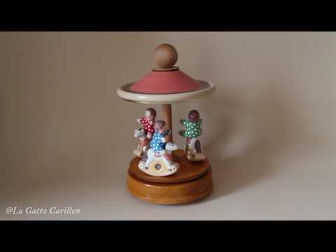Carillon giostra per bambini, Cavallini (Melodia:  LA BELLA ADDORMENTATA Tchaikowsky)