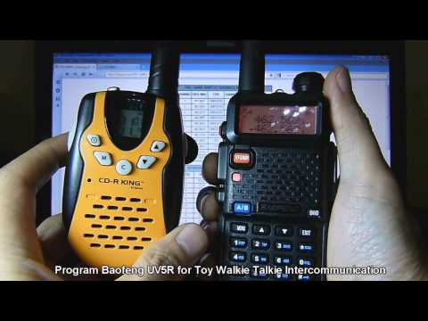 Baofeng UV-5R & Toy Walkie Talkie Intercommunication