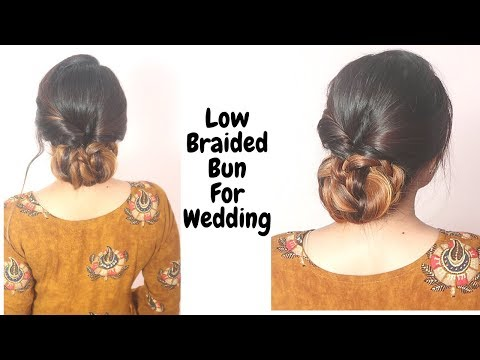 Low Braided Bun Hairstyle For Medium To Long Hair /Self Hairstyle /Hairstyle For Wedding thumbnail