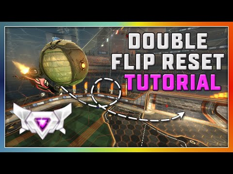 How To Double Flip Reset On Rocket League (TUTORIAL)