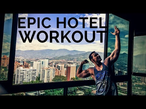 CRAZY HOTEL GYM IN MEDELLIN, COLOMBIA | PUSH WORKOUT | Alan Jaramillo