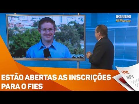 Estão abertas as inscrições para o FIES - TV SOROCABA/SBT