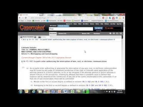 Casemaker — Statute Annotator