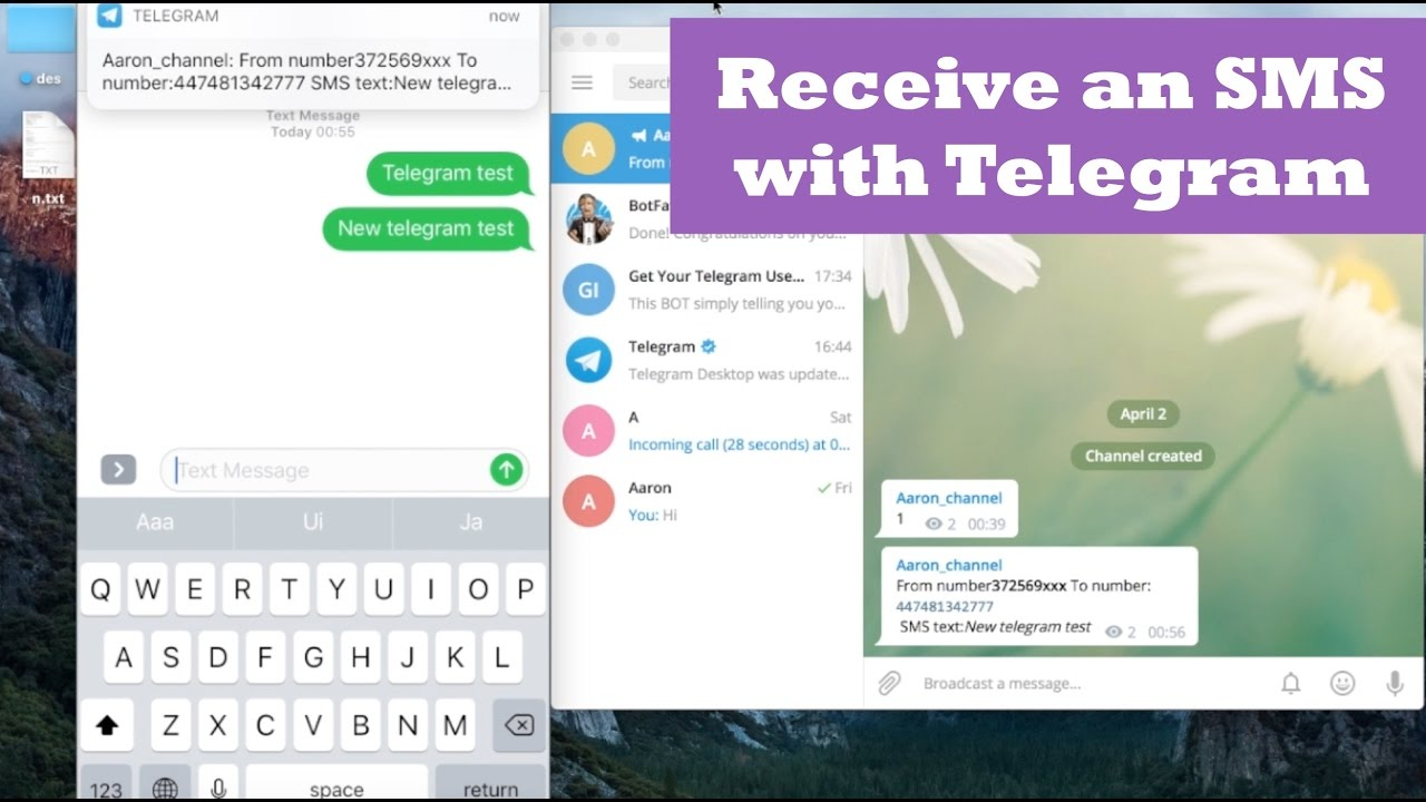 Telegram Bot + Receive SMS  Telegram Bot Tutorial