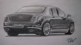 Bentley Continental speed drawing