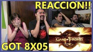 GAME OF THRONES Temporada 8 episodio 5 REACCION!!!😱 8x05 MEJORES MOMENTOS💥 GOT