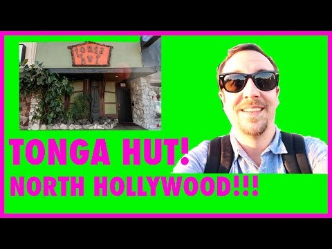 LA's Oldest Tiki Bar! Tonga Hut in North Hollywood CA!