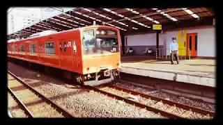 201系芦原橋駅発車  8ミリカメラ風