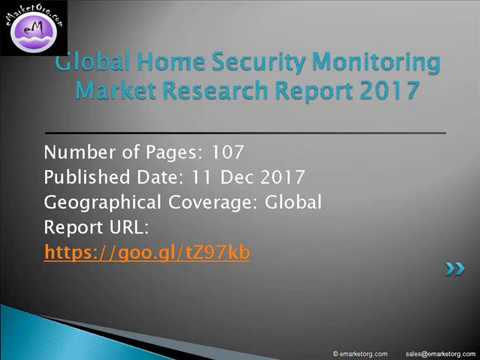 Global Home Security Monitoring Market: Global Industry Analysis and Opportunity Assessment