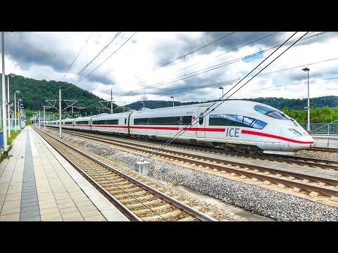 """Highspeed auf der SFS München - Nürnberg mit ICE 1 - ICE 3 und BR 101 Werbelok """"ECOPhant"""""""