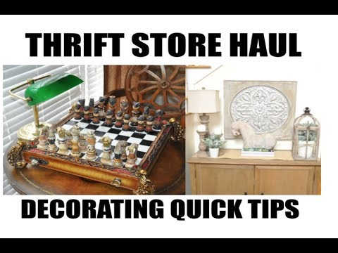 2020 Goodwill Thrift Home Decor Haul and Decorating Quick Tips
