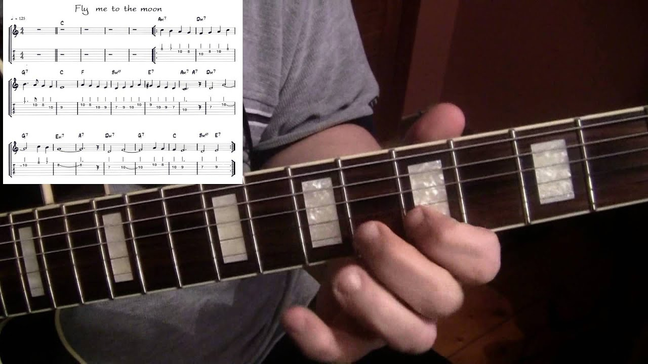 Fly Me To The Moon Jazz Guitar Cover Bart Howard Yvan Jacques