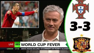 PORTUGAL VS SPAIN 3-3 [POST MATCH ANALYSIS] WITH JOSÉ MOURINHO!