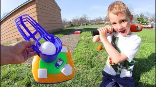 FATHER SON BASEBALL TRICK SHOTS!