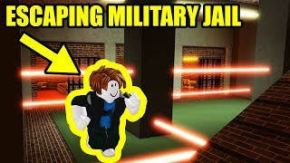 ESCAPING MAXIMUM SECURITY MILITARY PRISON!!!   Roblox Jailbreak New Update