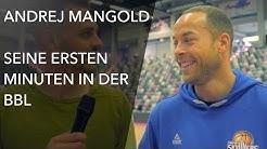 Andrej Mangold bekommt seine ersten Minuten in der BBL