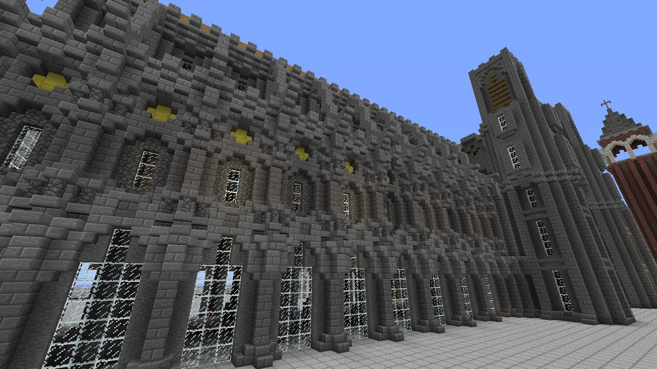 Server Build Showcase Medieval Cathedral Wall Design