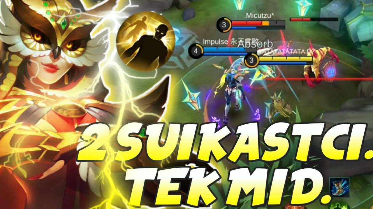 ESKI DOSTLA MIDIN ENSESINE COKTUK - 2 SUIKASTCI TEK MID - Mobile Legends Bang Bang