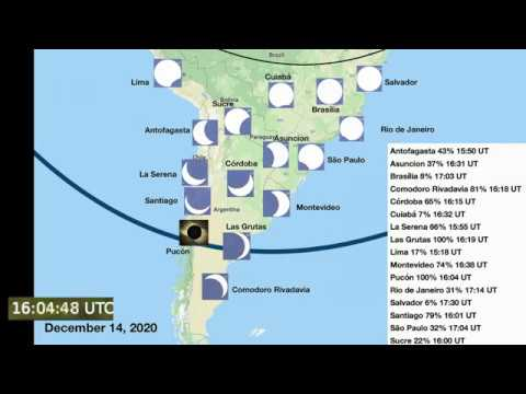 Total Solar Eclipse • 14 December 2020 • South America
