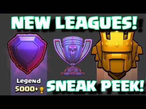 Clash Of Clans NEW TROPHY LEAGUES LEGEND AND TITAN | Clash Of Clans Summer Update 2015 Sneak Peek