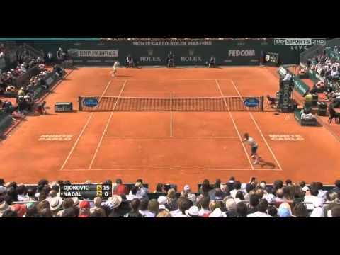 Novak Djokovic vs Rafael Nadal - Nole Wins First set - Highlights - FINAL Monte-Carlo 2013