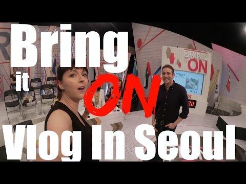Vlog in Seoul : On set Bring it on Arirang TV - 동영상