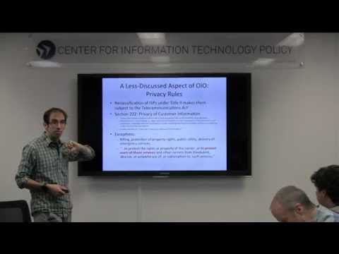 CITP Luncheon Speaker Series: Nick Feamster - Dissecting the FCC's New Rules