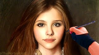 Chloe Grace Moretz Full Color Pastel Portrait Drawing Video(I need your support. Please consider helping this art channel and get more of what you love! (I have less and less time to do free videos these days) ..., 2013-04-29T22:07:00.000Z)
