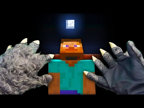 Thumbnail: REALISTIC MINECRAFT - STEVE TURNS INTO A WEREWOLF! 🐺