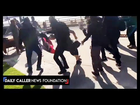 Antifa Attack Trump Supporters In San Diego