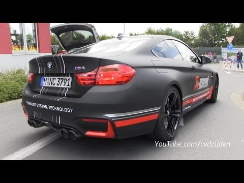 bmw m4 with akrapovic exhaust loud revs and sound youtube. Black Bedroom Furniture Sets. Home Design Ideas