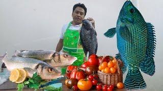 Koos loos cooking xyaum ua zaub mov( tom yum fish)