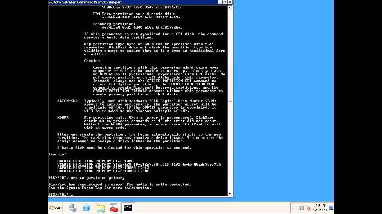 Command line storage provisioning in Windows Server 2008