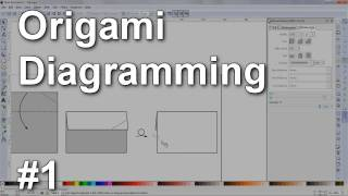 Origami Diagramming #1 - Inkscape Basics (squares, Lines, Arrows, Commands, Tools)