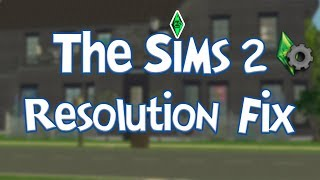 How To Fix The Sims 2 Low Resolution - Pink Object Crashing (Graphics Rules Maker)