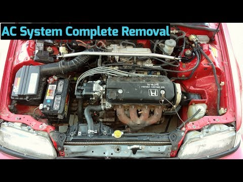 How to Remove AC Compressor & Components from 1988-1991 Honda Civic & CRX