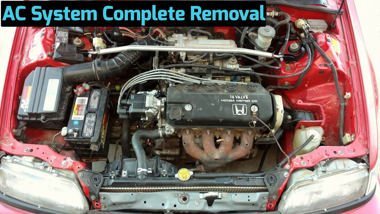small resolution of how to remove ac compressor components from 1988 1991 honda civic crx