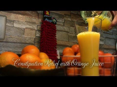 CONSTIPATION RELIEF USING ORANGE 🍊 JUICE   GLUTEN FREE   HEALTHY DRINK   CONSTIPATION RELIEF