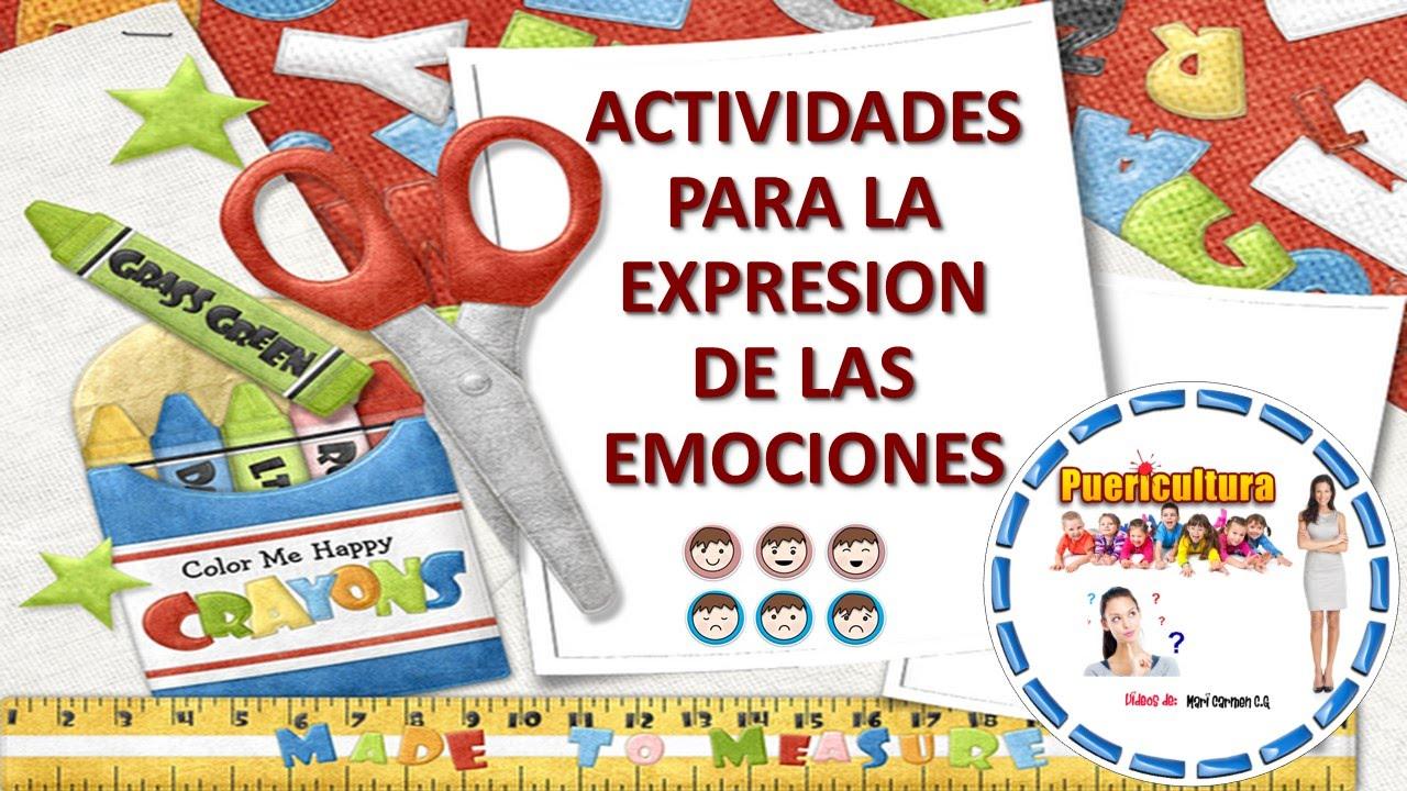 actividades y juegos para nios actividades para expresar emociones y youtube