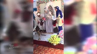 (Video Penuh) Isteri Serang Suami Sedang Bersanding