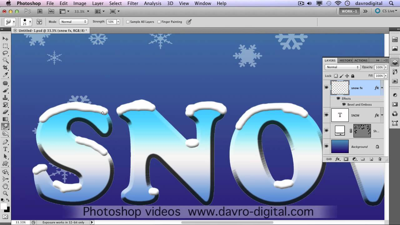 Snow text in photoshop youtube madrichimfo Images